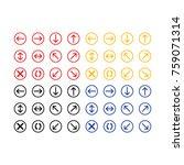 button icon vector   Shutterstock .eps vector #759071314