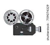 movie camcorder technology | Shutterstock .eps vector #759074329