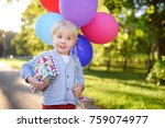 child going to congratulate a... | Shutterstock . vector #759074977