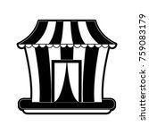 circus carnival tent | Shutterstock .eps vector #759083179