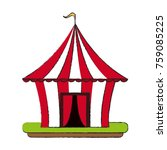 circus carnival tent icon... | Shutterstock .eps vector #759085225