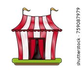 circus carnival tent | Shutterstock .eps vector #759087979