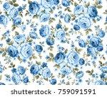 Beautiful Rose Blue Vintage...