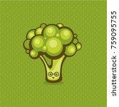 broccoli vector illustration.... | Shutterstock .eps vector #759095755