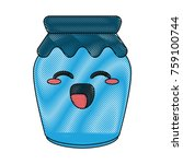 homemade jam bottle icon vector ... | Shutterstock .eps vector #759100744