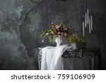 flower arrangement display  | Shutterstock . vector #759106909
