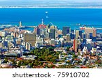 view over cape town  south... | Shutterstock . vector #75910702