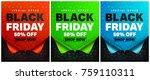 black friday poster or banner... | Shutterstock .eps vector #759110311