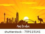 australia skyline city...   Shutterstock .eps vector #759115141