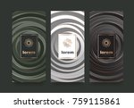 vector set packaging templates... | Shutterstock .eps vector #759115861