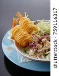 deep fried shrimp fried shrimp | Shutterstock . vector #759116317
