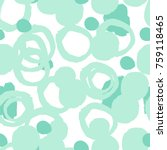 mint grunge geometric seamless...   Shutterstock .eps vector #759118465