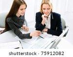image of  business women... | Shutterstock . vector #75912082