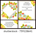 invitation with floral... | Shutterstock .eps vector #759128641