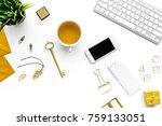 fashoin in the workplace.... | Shutterstock . vector #759133051