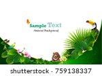 tropical an animal island... | Shutterstock .eps vector #759138337