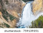 upper falls of the yellowstone  ... | Shutterstock . vector #759139351