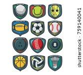 sport logo vector   Shutterstock .eps vector #759140041