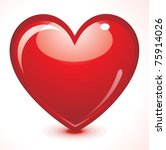 abstract red shiny heart vector ... | Shutterstock .eps vector #75914026