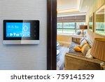smart screen with smart home... | Shutterstock . vector #759141529