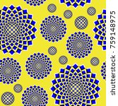 colorful optical illusion the... | Shutterstock . vector #759148975