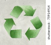 recycled paper craft  stick on... | Shutterstock . vector #75914914