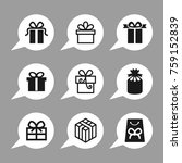 gift and holiday vector icons. | Shutterstock .eps vector #759152839