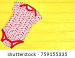 newborn girl soft patterned...   Shutterstock . vector #759155335