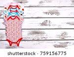 set of baby bodysuits  copy...   Shutterstock . vector #759156775