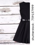 black cotton classical dress... | Shutterstock . vector #759157999