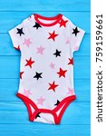 infant baby printed cotton...   Shutterstock . vector #759159661