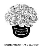 beautiful flower box vector... | Shutterstock .eps vector #759160459