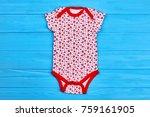 natural bodysuit for newborn...   Shutterstock . vector #759161905