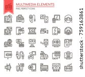 multimedia elements   thin line ...