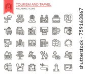 tourism and travel   thin line...   Shutterstock .eps vector #759163867