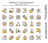 product management   thin line... | Shutterstock .eps vector #759163891
