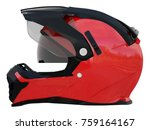 red rider helmet for race with... | Shutterstock . vector #759164167