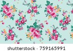 seamless floral pattern in...   Shutterstock .eps vector #759165991