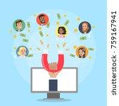attracting online customers.... | Shutterstock .eps vector #759167941