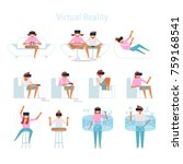 various poses for virtual... | Shutterstock .eps vector #759168541