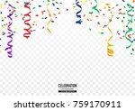 coloful confetti background in... | Shutterstock .eps vector #759170911