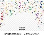 coloful confetti background in... | Shutterstock .eps vector #759170914