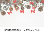 stylized christmas decorations... | Shutterstock . vector #759172711