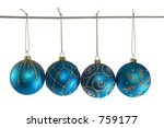 blue christmas balls with... | Shutterstock . vector #759177