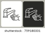 faucet   black and white vector ... | Shutterstock .eps vector #759180331