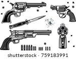guns collection set of bullet.... | Shutterstock . vector #759183991