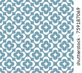 seamless ornamental pattern... | Shutterstock .eps vector #759187069