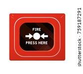 red fire alarm box. smoke... | Shutterstock .eps vector #759187291
