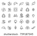 simple set of ecology related... | Shutterstock .eps vector #759187345