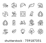 Simple set of ecology related outline icons. Elements for mobile concept and web apps. Thin line vector icons for website design and development, app development. Premium pack. | Shutterstock vector #759187351
